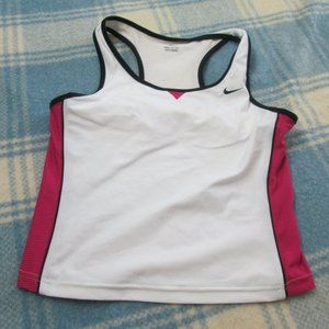 NIKE WORKOUT TANK TOP WITH BUILT IN BRA SIZE LARGE